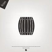 wooden barrel vector icon