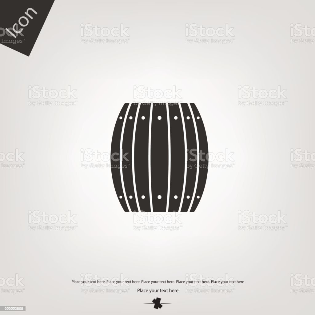 wooden barrel vector icon vector art illustration
