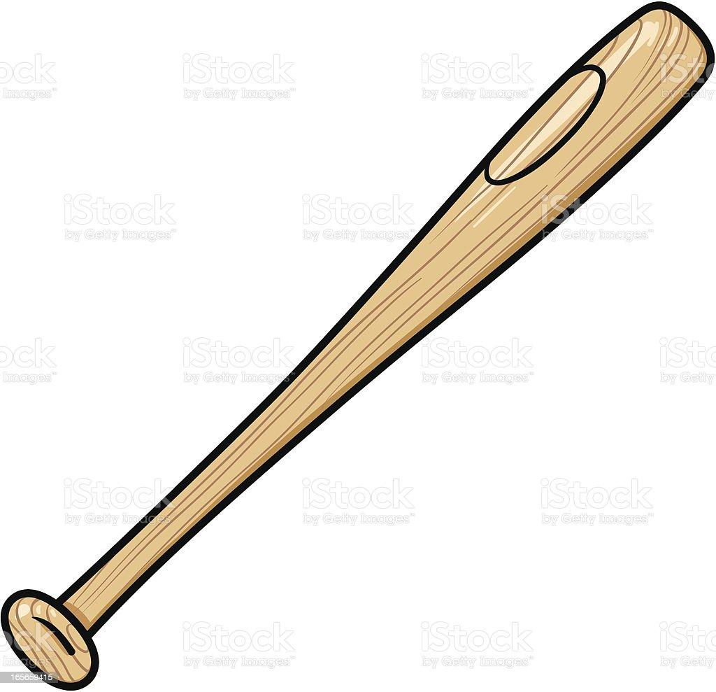 wooden baseball bat stock vector art more images of baseball rh istockphoto com Baseball Bat Vector Baseball Bat Vector