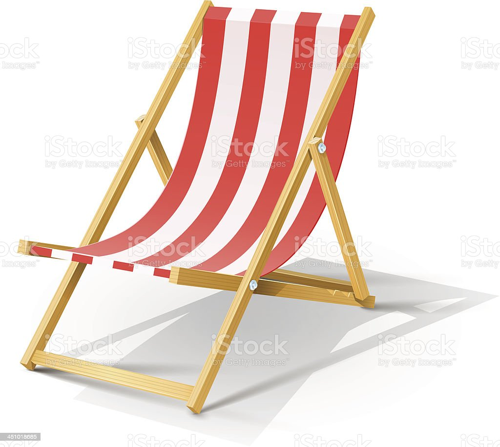 royalty free beach chair clip art vector images illustrations rh istockphoto com beach chair clipart beach deck chair clipart