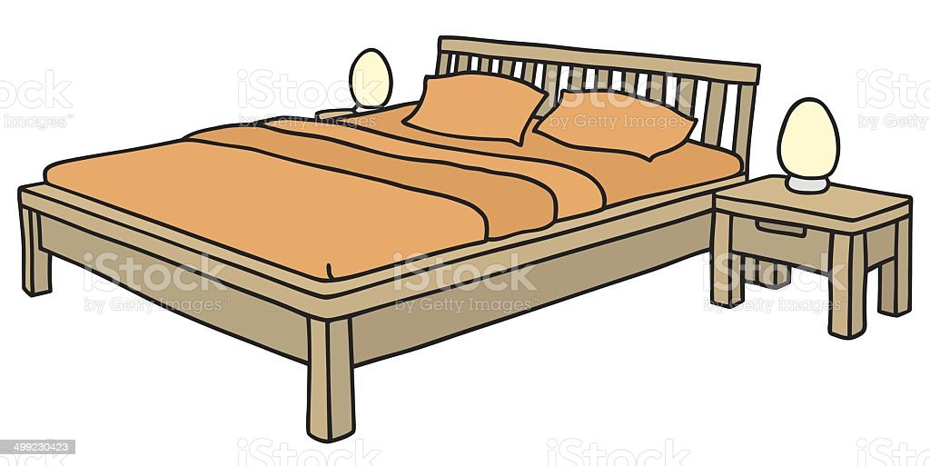 Royalty Free Wood Bedframe Clip Art Vector Images Illustrations