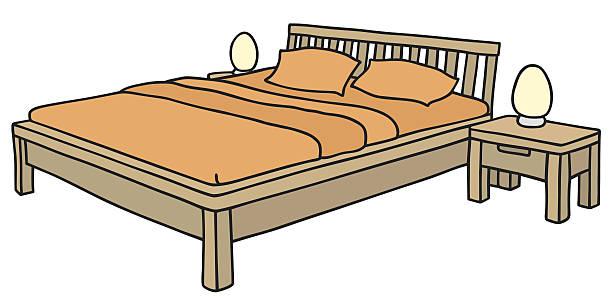 Royalty Free Wood Bedframe Clip Art Vector Images Illustrations