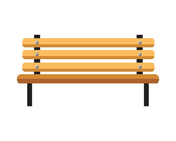 ilustrações, clipart, desenhos animados e ícones de banco de madeira. isolado no fundo branco - banco assento
