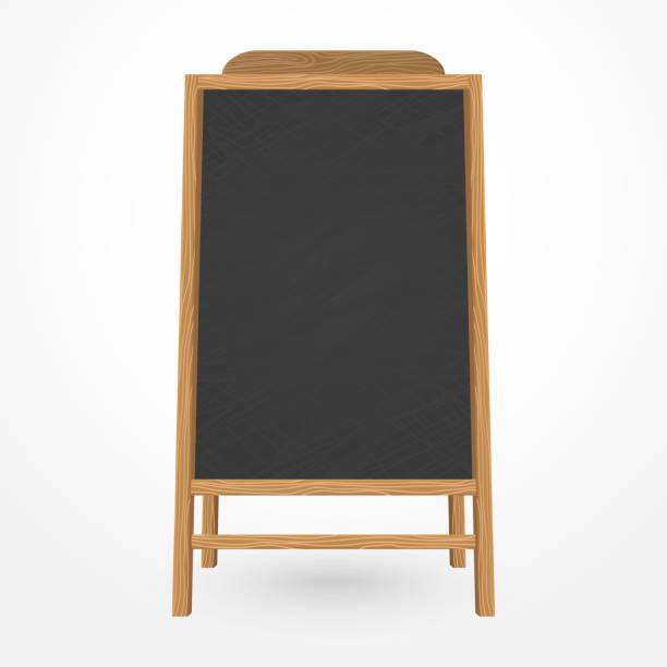 Wooden blackboard cafe menu vector art illustration