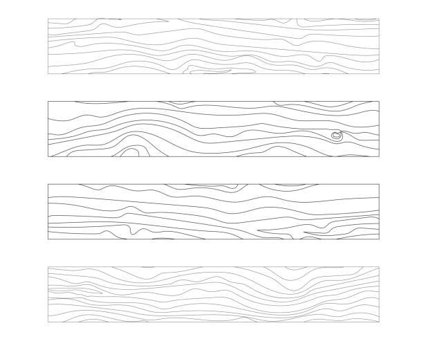 ilustrações, clipart, desenhos animados e ícones de ilustração em vetor textura placa de madeira - textura de madeira