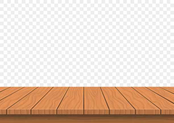wooden board top on transparent background wooden board  top on transparent background, blank empty space, vector oakland stock illustrations