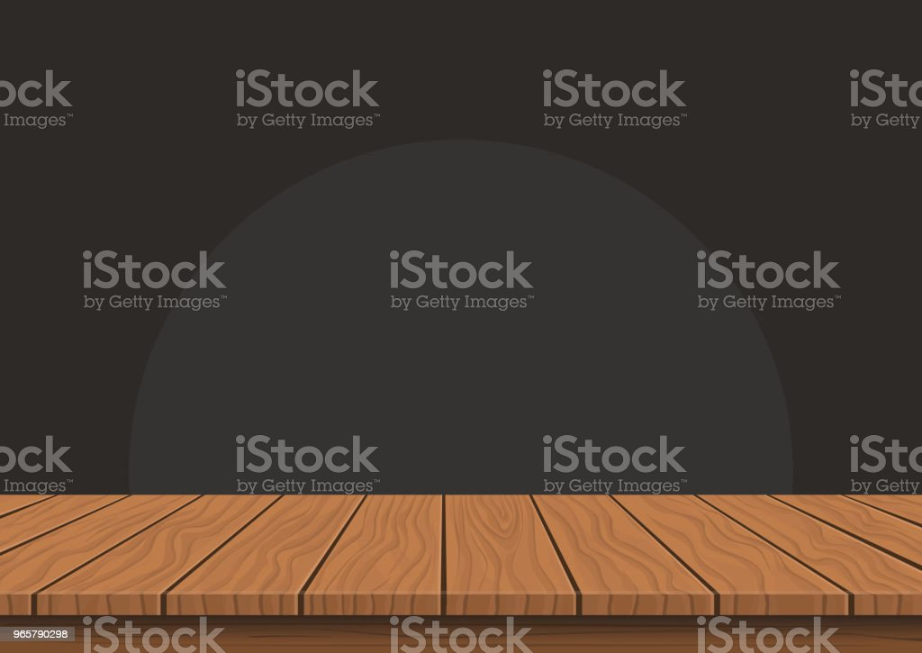 Wooden board top on transparent background - Royalty-free Abstrato arte vetorial