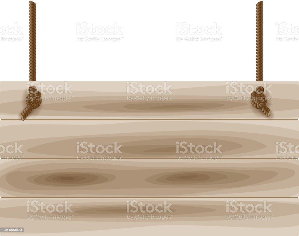 Wooden board vector art illustration