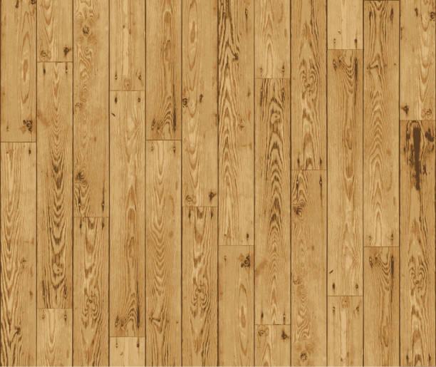 Wooden boards background vector art illustration