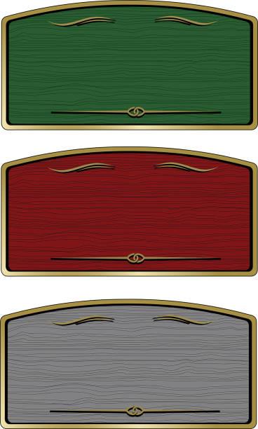 wooden boards signs vector art illustration