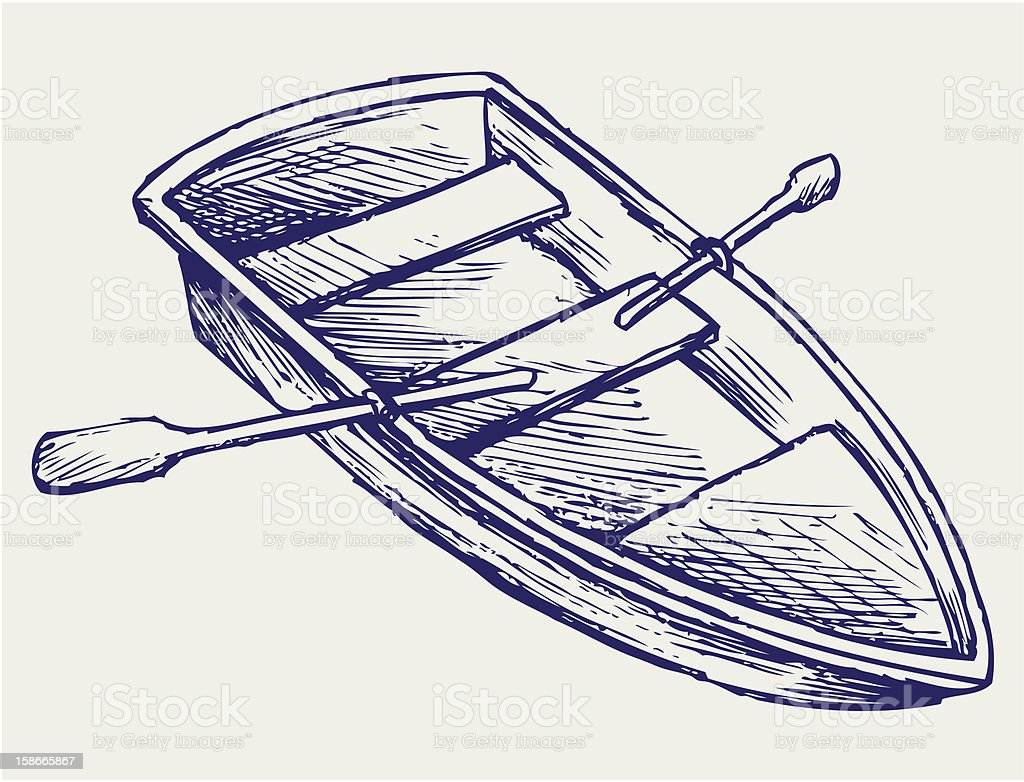 Wooden boat with paddles royalty-free wooden boat with paddles stock vector art & more images of abstract