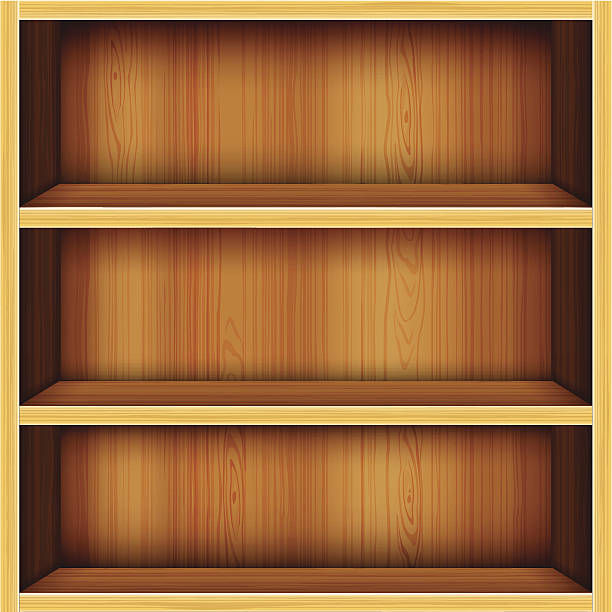 Royalty Free Empty Bookshelf Clip Art Vector Images