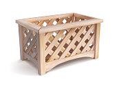 istock Wooden box for the garden. Vector illustration. 1291768228
