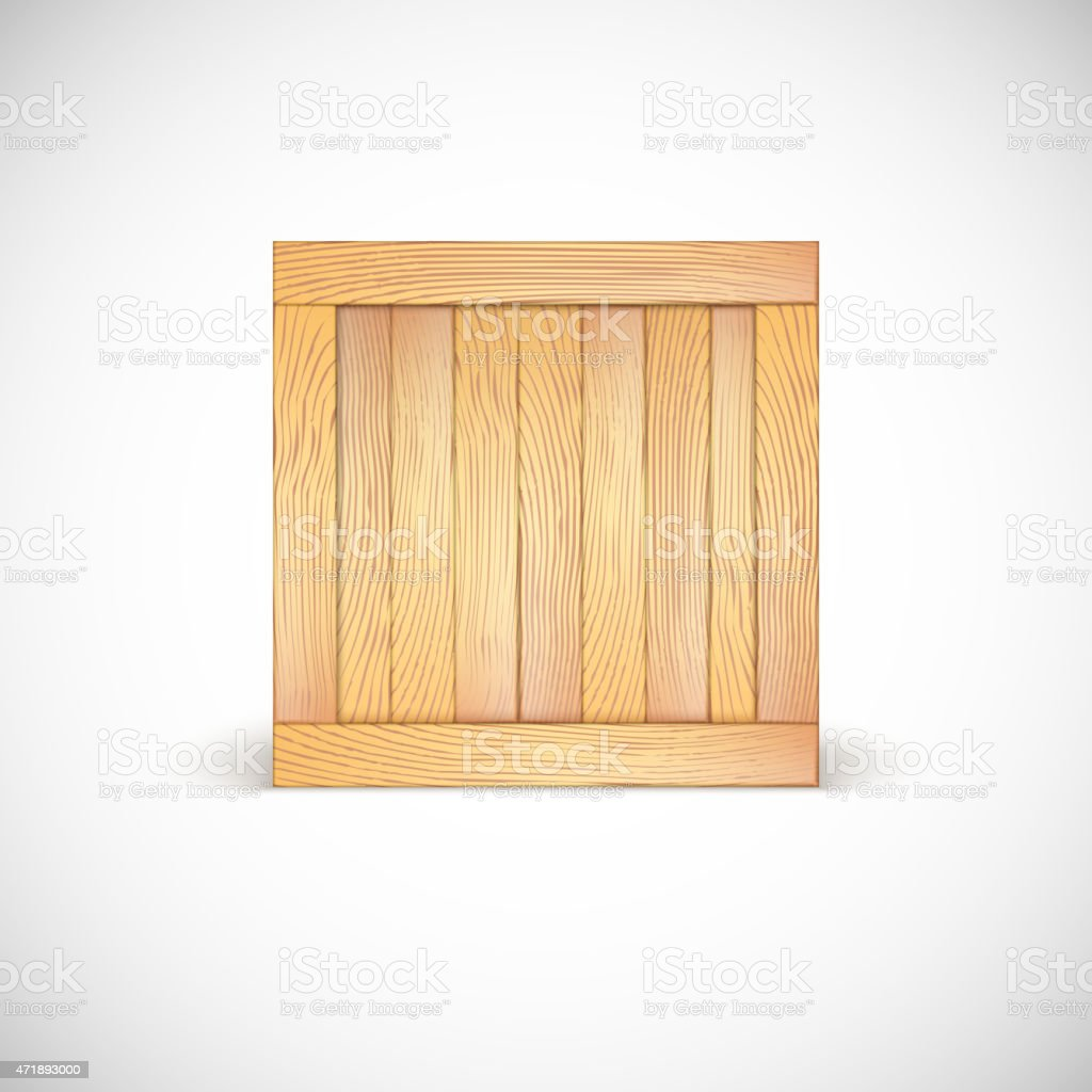 wooden box clipart. wooden box isolated vector art illustration clipart