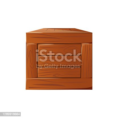 Wooden box. Box made of wood for postage.