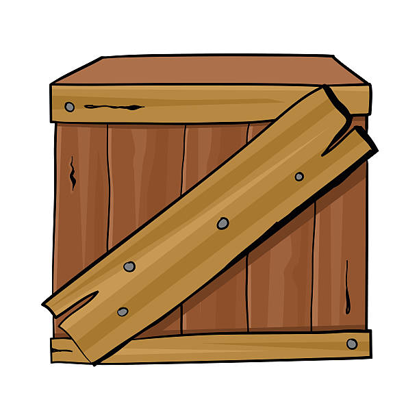 Royalty Free Wood Crate Clip Art, Vector Images ...