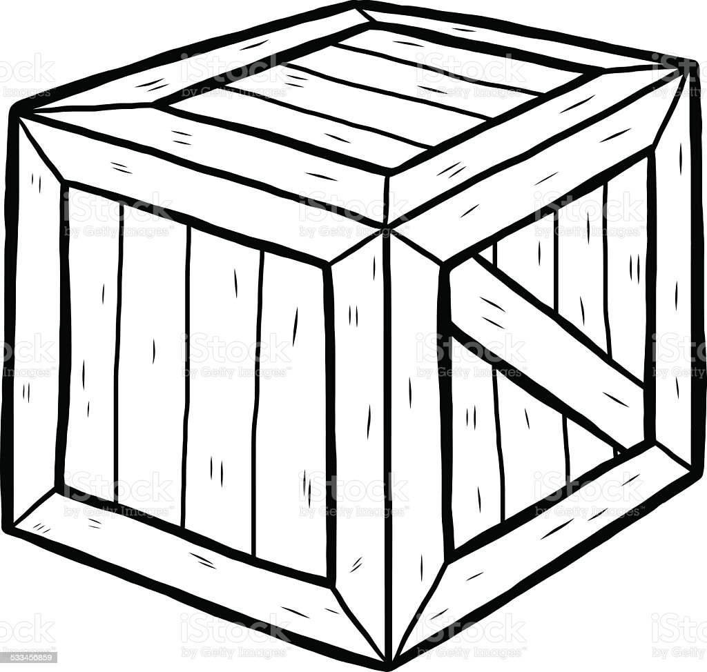 box clipart black and white. wooden box royaltyfree stock vector art clipart black and white n