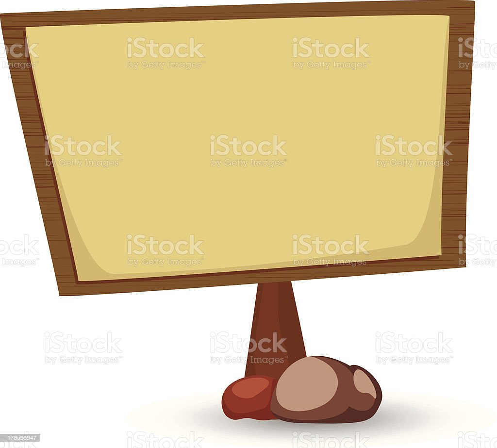 wooden broad royalty-free stock vector art