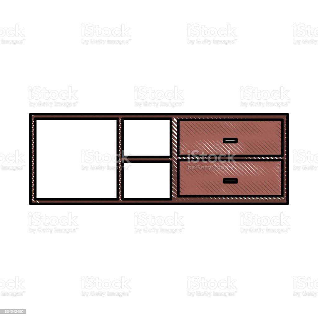 Gabinete Y Estante Muebles De Madera Vac Elo Illustracion Libre De  # Muebles Pizarra