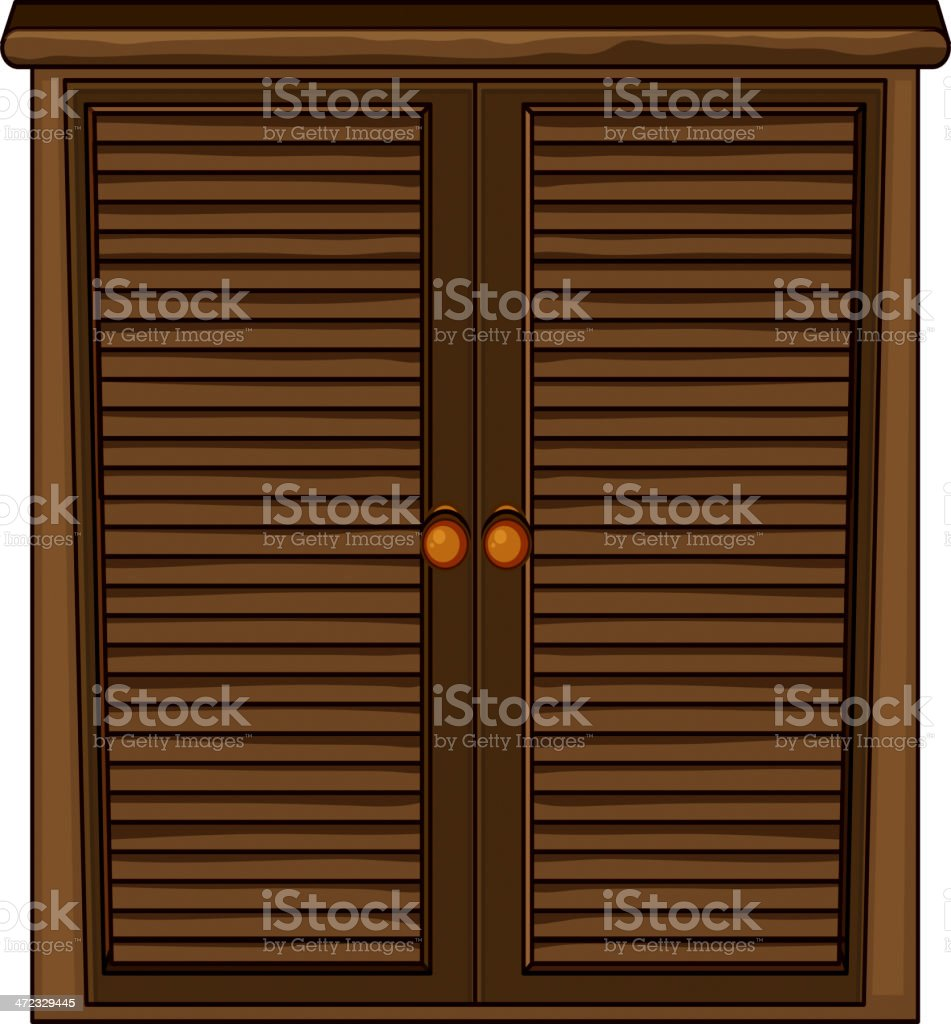 Wooden cabinet royalty-free stock vector art