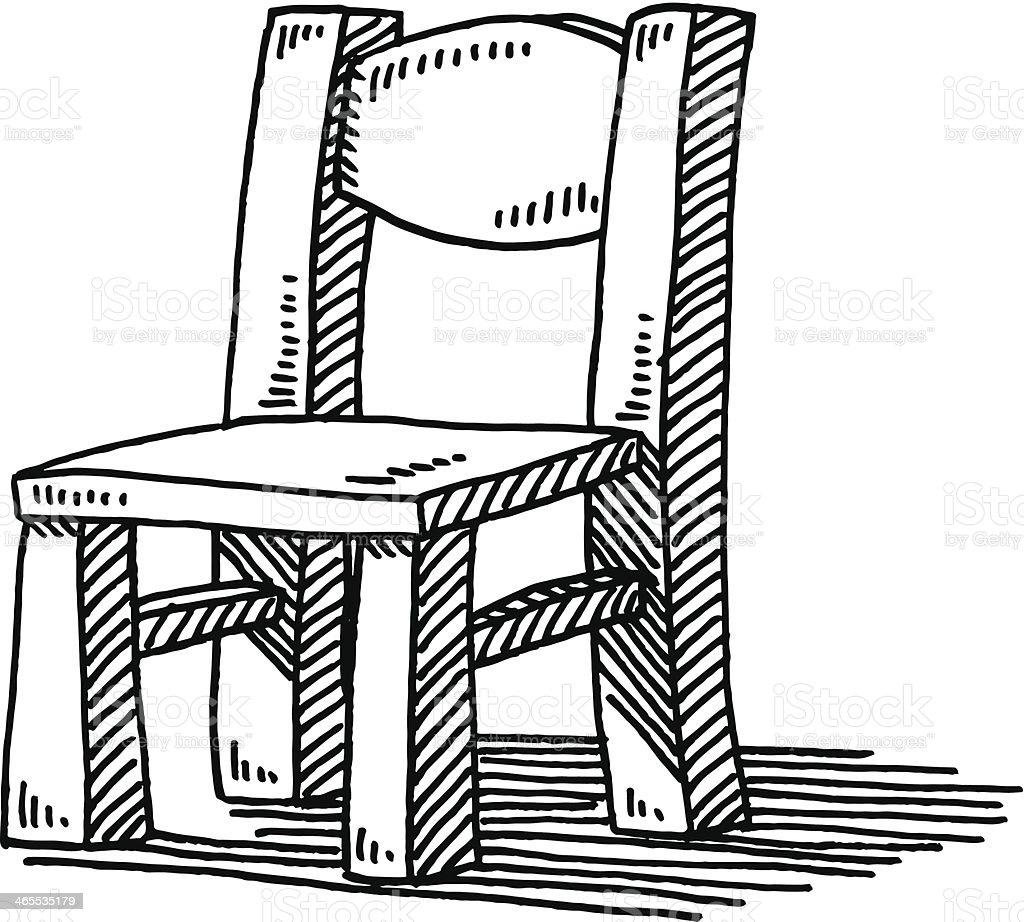 silla de madera muebles de dibujo illustracion libre de derechos ... - Dibujo De Muebles