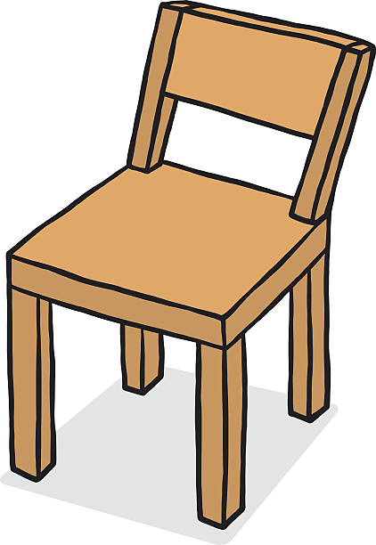 Wooden Chair Clip Art ~ Royalty free wooden chair clip art vector images