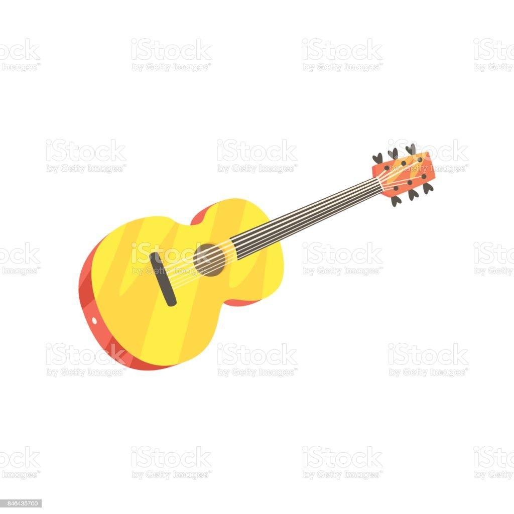 Ilustración De Guitarra Clásica Madera Vector De Dibujos Animados De