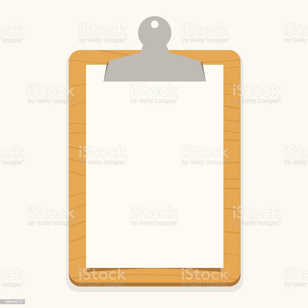 wooden clipboard vector art illustration