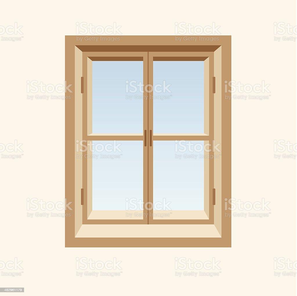 Fermeture De Fenêtre En Bois Illustration Vectorielle Vecteurs