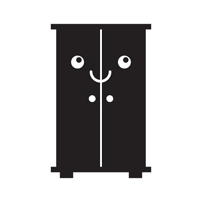 wooden closet kawaii character