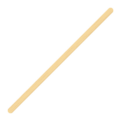 Wooden coffee stirrer, popsicle stick, elements for holding ice cream. Isolated realistic vector Illustration on white background