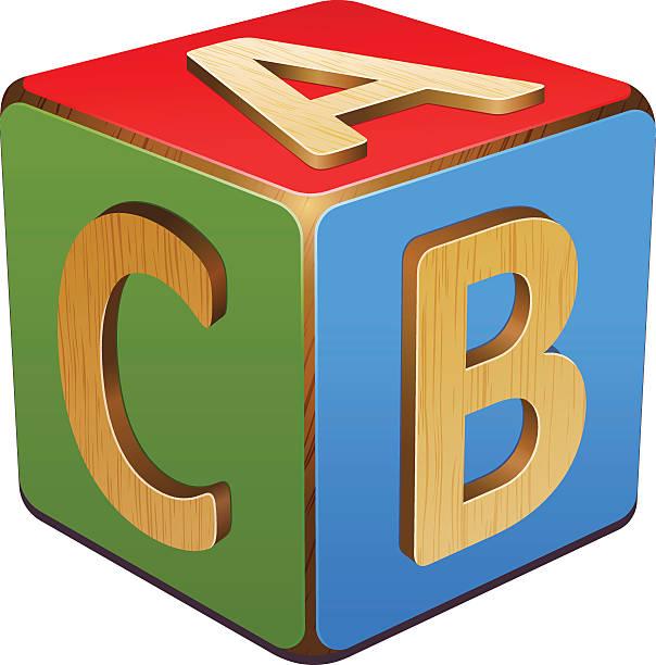 Wood Block Clip Art ~ Royalty free abc blocks clip art vector images