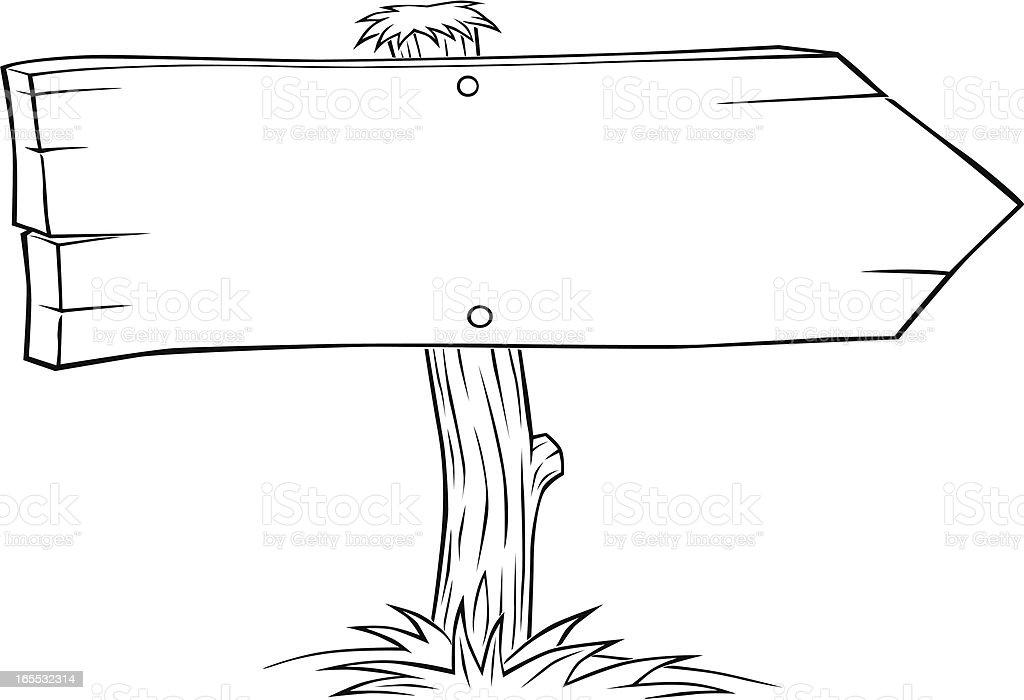 Panneau En Bois De Direction Stock Vecteur Libres de Droits 165532314 iStock # Panneau De Direction En Bois