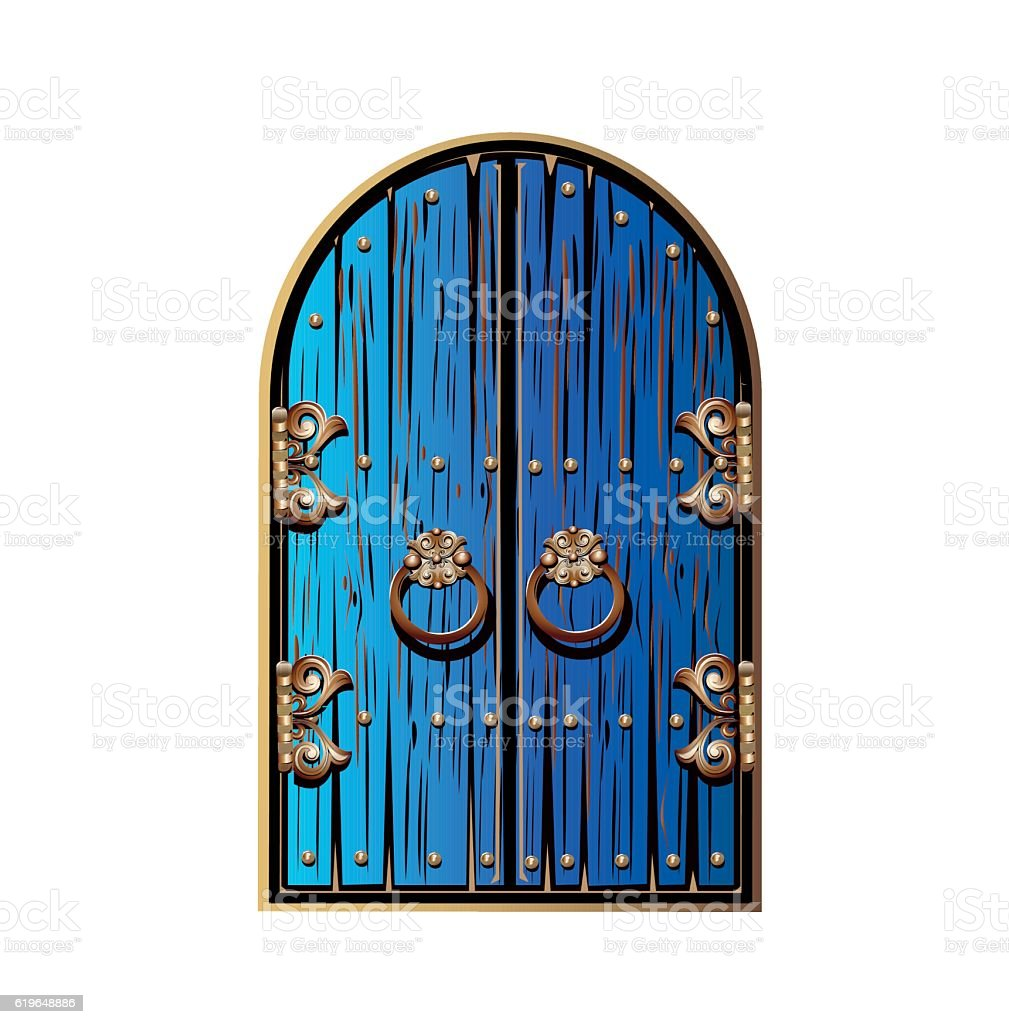 wooden door with a gold ornament vector art illustration  sc 1 st  iStock & Royalty Free Magic Door Clip Art Vector Images \u0026 Illustrations - iStock
