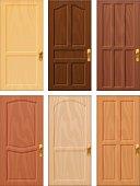 Wooden door design collection.