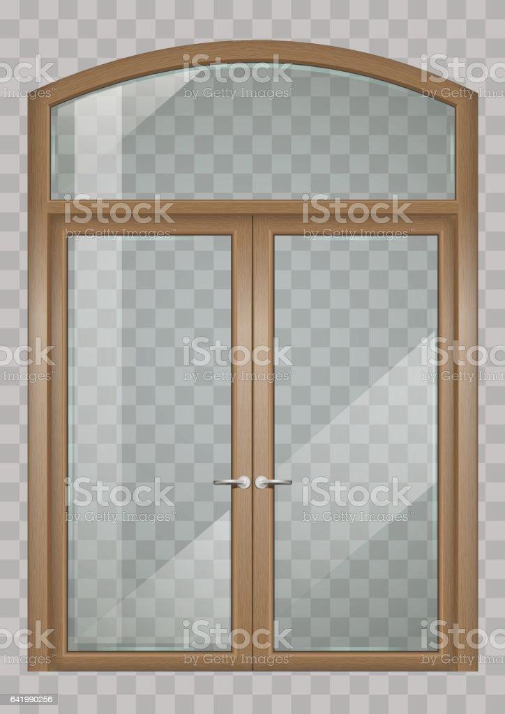 Portas de madeira - ilustração de arte em vetor