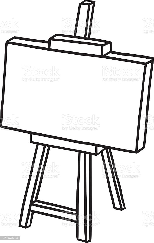 wooden easel with blank canvas stock vector art more images of art rh istockphoto com canvas clipart images painting canvas clipart