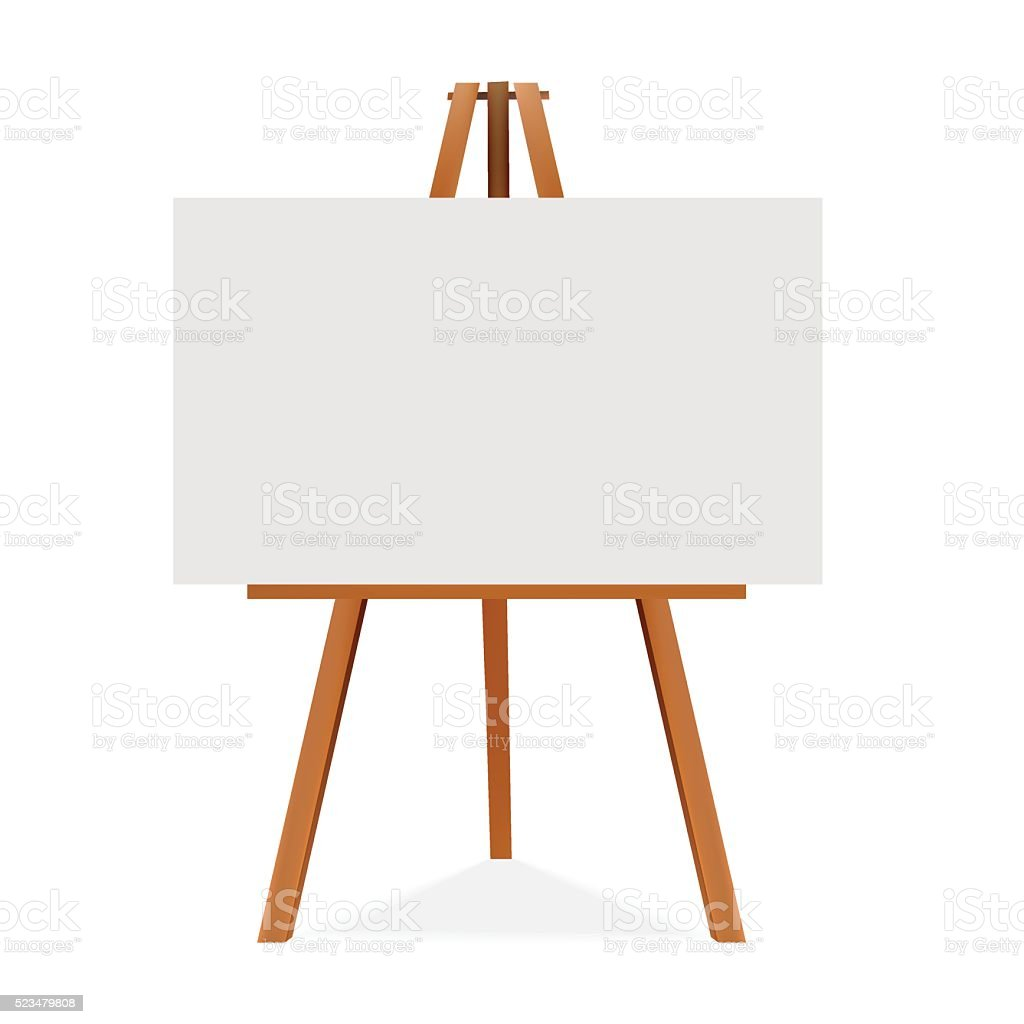 royalty free easel clip art vector images illustrations istock rh istockphoto com canvas shoes clipart canvas clipart images