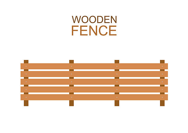 Royalty Free Farm Fence Clip Art, Vector Images