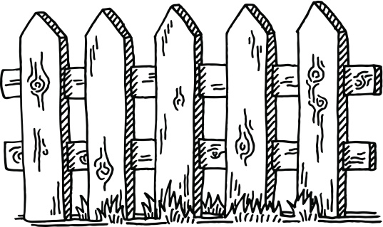 Wooden Fence Drawing