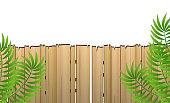 istock Wooden fence isolated on a white background. Vector. 1317822909