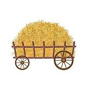 Wooden four-wheel cart