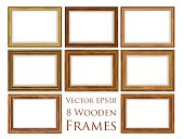 Vector eps10 wooden frame set.