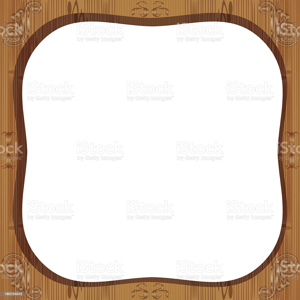 Wooden frame. royalty-free wooden frame stock vector art & more images of computer graphic