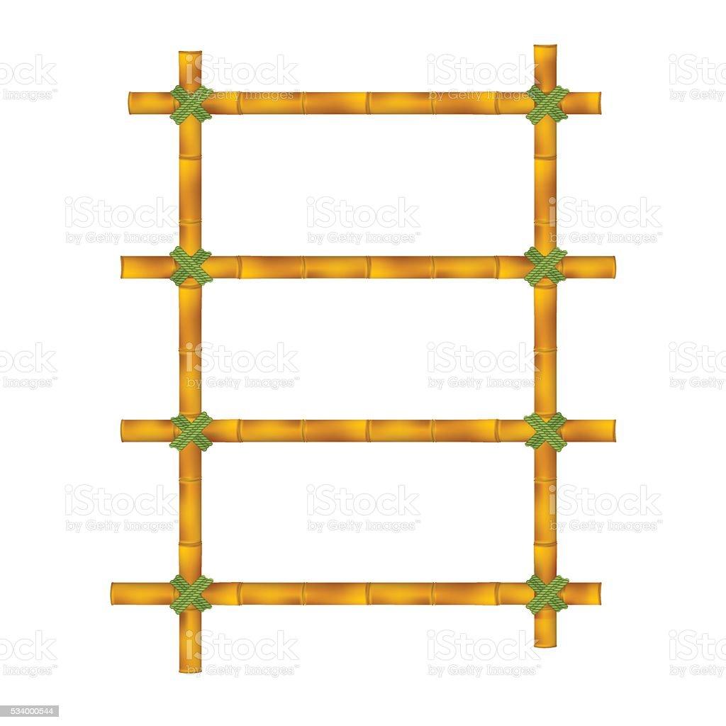 Wooden frame vector art illustration