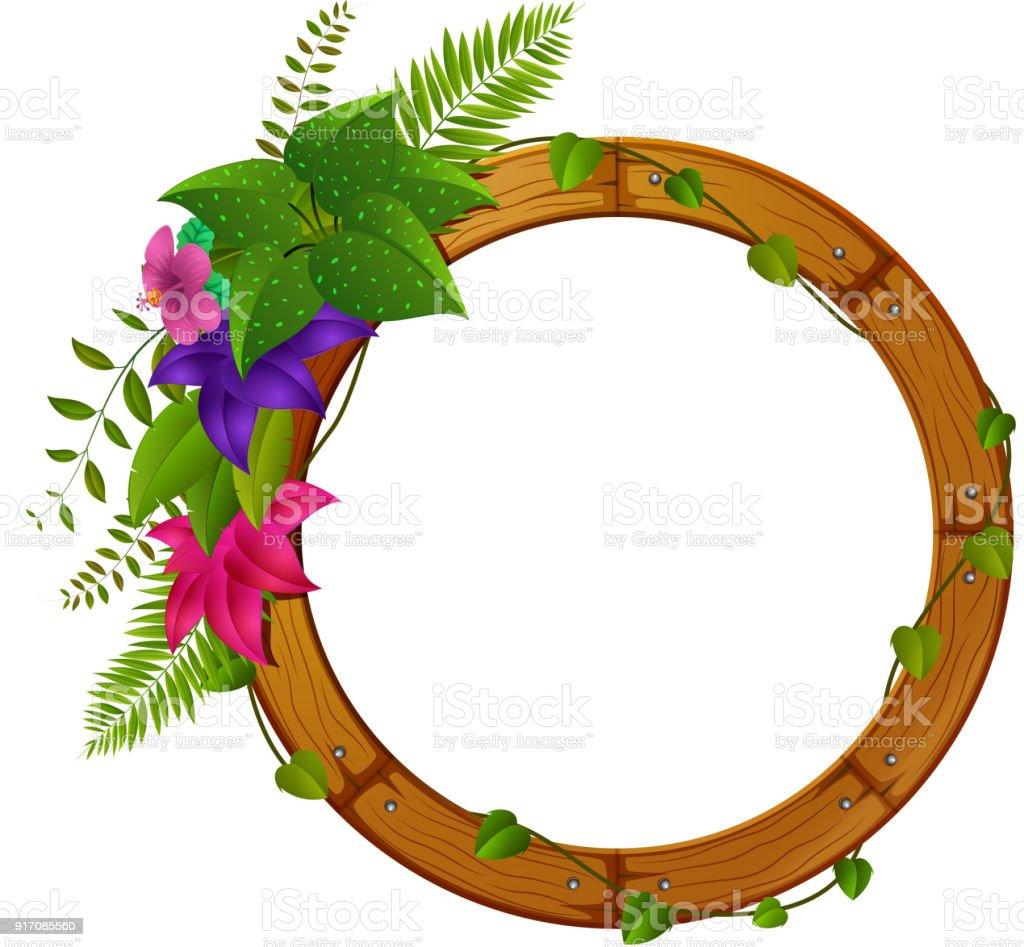 花と木枠 からっぽのベクターアート素材や画像を多数ご用意 Istock