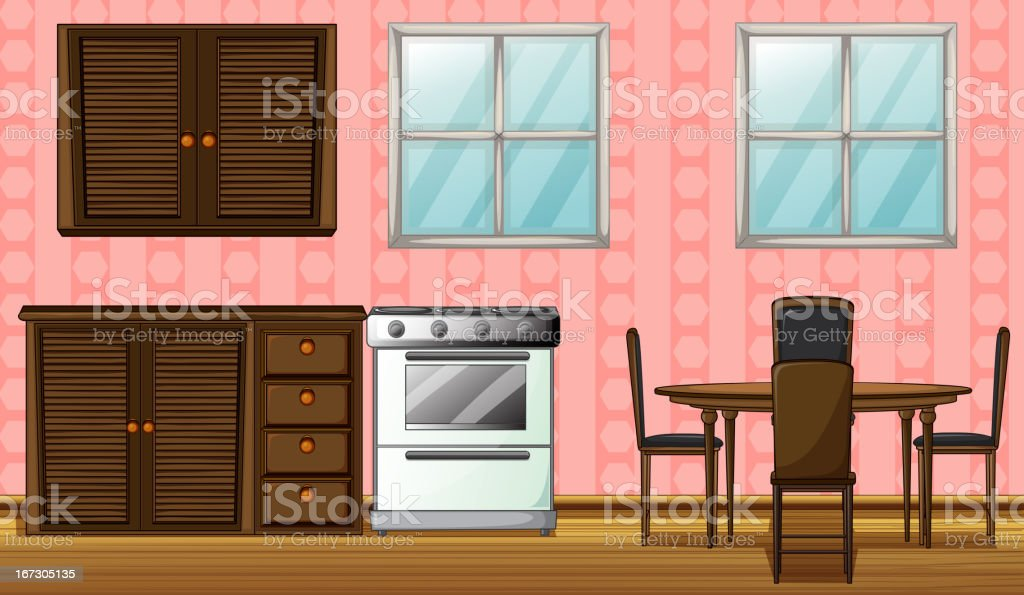 Wooden furniture and gas stove royalty-free wooden furniture and gas stove stock vector art & more images of appliance