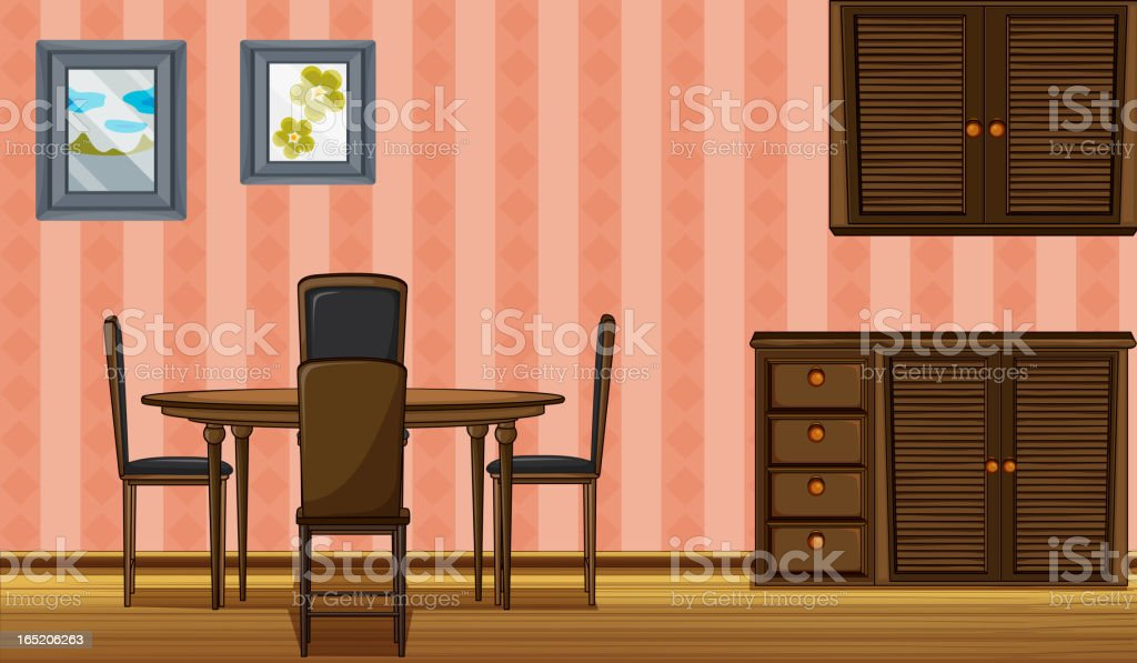 Wooden furniture royalty-free stock vector art