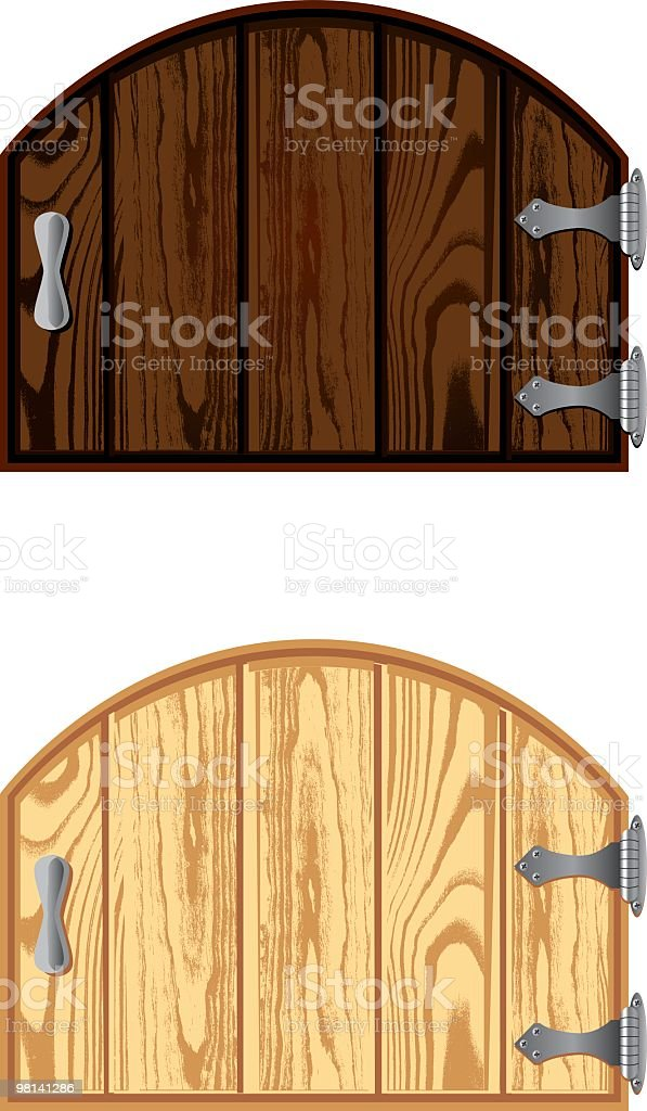Wooden Gate royalty-free wooden gate stock vector art & more images of color image