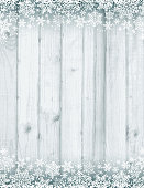 Wooden grey christmas background with white snowflakes, vector illustration